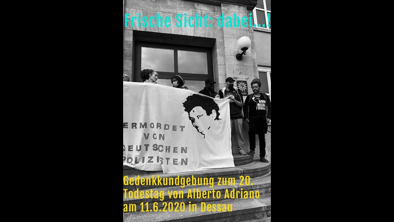 """Frische Sicht: dabei...! """"Demonstration No Justice, No Peace"""" in Dessau"""